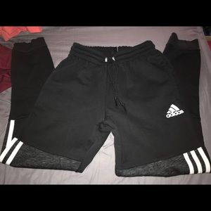 Black Adidas joggers